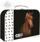 KAZETO Kufr dětský Kůň velký lepenkový kufřík 34x24cm s obrázkem