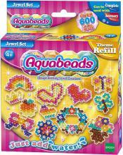 Aquabeads Šperky set korálky 600ks + 4 šablony spojování vodou dětská bižuterie