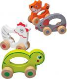 DŘEVO Baby zvířátko jezdící s úchytem různé druhy pro miminko *DŘEVĚNÉ HRAČKY*