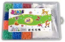 Korálky dětské zažehlovací 2 obrázky set s pinzetou a doplňky v plastové krabičc