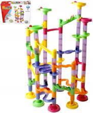 Dráha kuličková plastová herní set 91dílků kuličkodráha v krabici