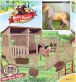 Stáj pro koně herní set stavebnice s koníkem plast