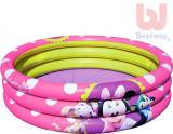 BESTWAY Bazén dětský nafukovací Disney Minnie kulatý 102cm 3 prstence 91060