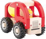 WOODY DŘEVO Baby autíčko míchačka 13cm s řidičem *DŘEVĚNÉ HRAČKY*