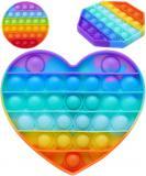 Hra Pop It antistresová Bubble Pops silikon duhový různé druhy *SPOLEČENSKÉ HRY*