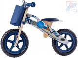 WOODY DŘEVO Odrážedlo motorka modré odstrkovadlo *DŘEVĚNÉ HRAČKY*