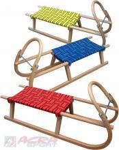 ACRA Sáňky (sáně) dětské dřevěné Sulov 105cm 3 barvy A2041