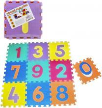 Baby puzzle pěnový koberec Čísla set 10ks měkké bloky vkládací