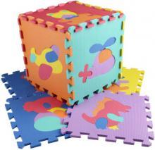 Baby puzzle pěnový koberec Doprava Zvířátka set 10ks vkládací
