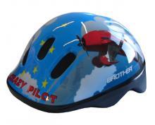 ACRA Helma dětská cyklistická modrá vel.S (48-52cm) na kolo Crazy pilot