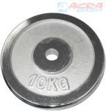 ACRA Chromový kotouč náhradní závaží na činky 1x10kg 30mm