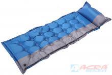 ACRA Karimatka samonafukovací 200x66x5cm s polštářkem modrošedá