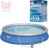 BESTWAY Bazén kulatý samostavěcí expanzní 457x84cm s filtrací