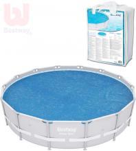 BESTWAY Plachta solární na kulatý bazén Power Steel 427cm modrá 58252