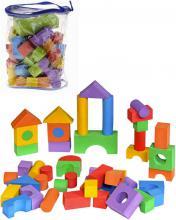Baby kostky soft pěnové barevné set 50ks v igelitovém pytlíku pro miminko