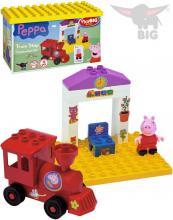 PlayBIG BLOXX Stavebnice Peppa Pig železniční zastávka set s 1 figurkou v boxu