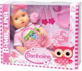 Baby panenka miminko Bambolina mluví 50 slov na baterie set s doplňky CZ Zvuk