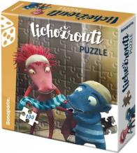 BONAPARTE Puzzle Lichožrouti 33x30cm Hihlík a Žiletka set 100 dílků v krabici