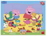 DINO Puzzle deskové 12 dílků Peppa Pig skládačka 31x23cm