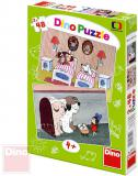 DINO Puzzle 2x48 dílků Pohádky s pejsky 26,5x18cm skládačka 2v1