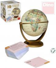 DINO Hra IQ Historický kvíz set s globusem 15cm 440 otázek v krabici