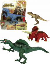 ADC Mighty Megasaur akční dinosaurus 20cm na baterie 4 druhy Světlo Zvuk
