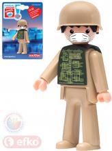 EFKO IGRÁČEK s rouškou figurka Voják Pomáhej s Igráčkem limitovaná edice