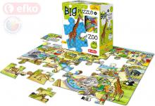 EFKO Baby Puzzle BIG V ZOO velké dílky skládačka set 24 dílků 68x47cm v krabici