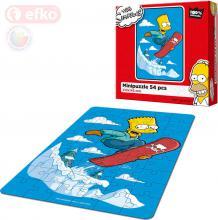 EFKO Puzzle The Simpsons Bart na snowboardu skládačka 15x21cm 54 dílků v krabici