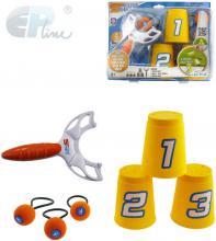 EP Line Hra Phlat Sport set prak se 3 míčky s poutky a 3 kelímky