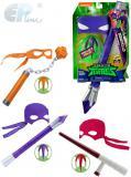 EP line Želvy Ninja set maska se zbraní a diskem různé druhy plast