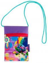 ET Dětská taštička na krk Trolls s provázkem peněženka na zip