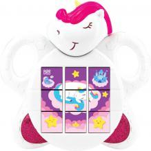 Baby puzzle jednorožec se zvuky a melodií na baterie pro miminko plast