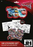 JIRI MODELS Omalovánky + 100 samolepek holografické Auta (Cars)