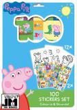 JIRI MODELS Omalovánky + 100 samolepek holografické Peppa Pig