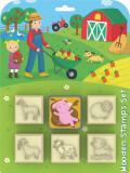JIRI MODELS Razítka 5+1 Farma zvířátka