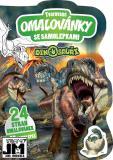 JIRI MODELS Omalovánky tvarované + samolepky Dinosauři