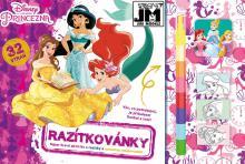 JIRI MODELS Razítkovánky Disney Princezny kreativní sešit s aktivitami