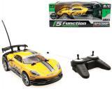 RC Auto sportovní závodnička žlutá na vysílačku 27MHz na baterie 1:18