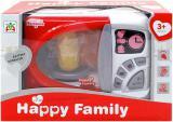 Mikrovlnka dětská na baterie plastová set s potravinami Světlo Zvuk