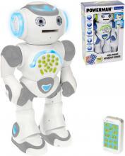 MAC TOYS RC Robot Powerman na vysílačku mluví CZ střílí disky na baterie Světlo Zvuk