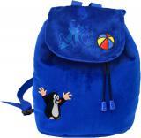 MORAVSKÁ ÚSTŘEDNA Krtek (krteček) MODRÝ batoh s výšivkou