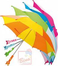 BINO DŘEVO Deštník dětský rukojeť zvířátko 58cm 4 barvy