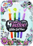 Pera tetovací třpytivá gelová set 4ks na kartě