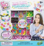 SO BEADS Korálky kreativní set výroba dětské bižuterie v krabici