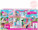 MATTEL BRB Dům v Malibu pro panenku Barbie rozkládací set s nábytkem a doplňky