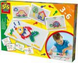 SES CREATIVE Mozaika na desce set s předlohami v krabici