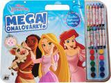 JIRI MODELS Mega omalovánkový set Princezny s voskovkami a barvičkami