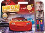 JIRI MODELS Mega omalovánkový set Auta (Cars) s voskovkami a barvičkami