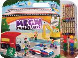 JIRI MODELS Mega omalovánkový set Doprava s voskovkami a barvičkami